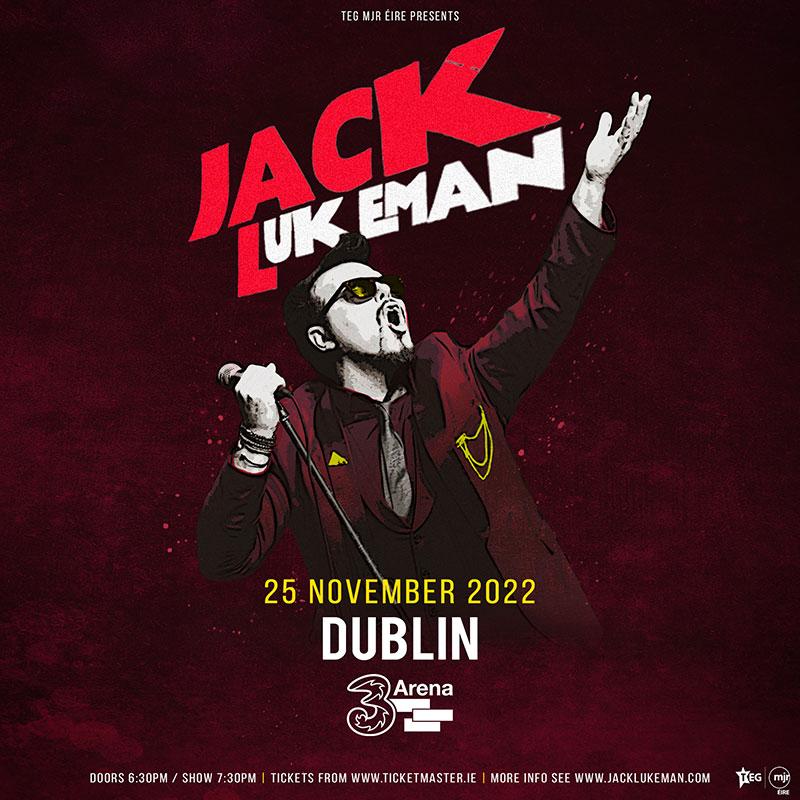 Jack Lukeman Live at 3Arena Nov 25 2022
